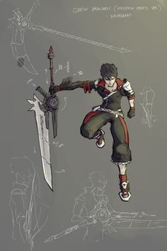 Anonymous said: Square Enix styled(belts&zippers) Qrow pls Answer: Interesting… Qrow Branwen in his younger days, last seen on traverse town in a bar right before the heartless appeared. Rwby Anime, Rwby Fanart, Anime Weapons, Fantasy Weapons, Rwby Characters, Fantasy Characters, Fantasy Character Design, Character Art, Rwby Qrow