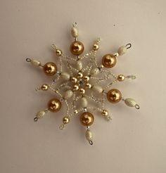 Vánoční hvězda z korálků ,,čokoláda ,,8 ,, Vánoční hvězdička z korálků a…