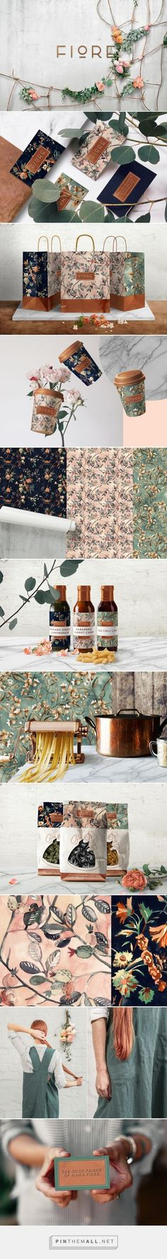 FIORE Italian Restaurant Branding by Noname Branding Fivestar Branding Agency – Design and Branding Agency & Curated Inspiration Gallery Site Web Design, Graphisches Design, Logo Design, Brand Identity Design, Graphic Design Branding, Design Agency, Typography Design, Creative Design, Floral Design