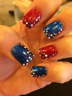 31 fantastic bright summer and fourth of july nail design ideas