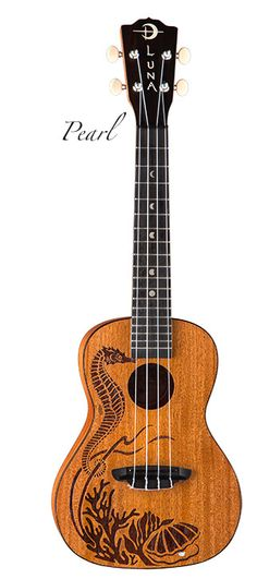 Luna Guitars - my Pearl Ukulele--this is the ukulele Luna created in conjunction with my book Get Happy!