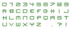 Letras Verde Simple