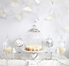 White butterfly bridal shower-The Gorgeous Sweets Table