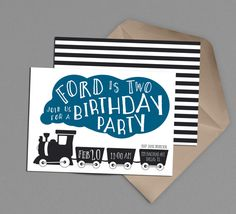 Choo Choo Train Birthday Party Printable Invitation