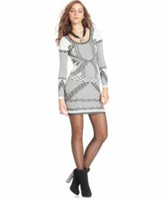 There's always room for a fresh printed tunic from Free People in your wardrobe. The Aztec-inspired knit pattern creates a striking contrast to solid jackets and bottoms. Square neckline Long sleeves Fitted silhouette Approximate length from shoulder to hem for size M/L: 30 1/2