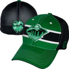 Minnesota Wild Kelly Green/ Black Doherty Stretch Fit Hat