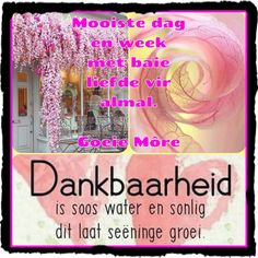 Goeie Nag, Goeie More, Afrikaans Quotes, Good Morning Quotes, Love You, Stickers, Te Amo, Je T'aime, I Love You