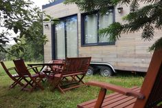 Zen Tiny House In France Hugged by Mature Trees Tiny House On Wheels France House Hugged Mature Tiny Trees Zen Tiny Houses For Rent, Small Tiny House, Best Tiny House, Tiny House Living, Tiny House On Wheels, Tiny House Design, Tiny Cabins, Cabins And Cottages, Tiny House Rentals