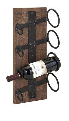 Garrett 4 Bottle Wall Mounted Wine Rack