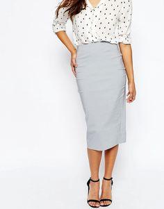 Image 4 ofASOS High Waist Longerline Pencil Skirt