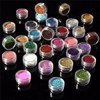 Amazon.com : Eyeshadow&Nail Glitter LuckyFine 30Pcs/Set Colors Mixed Glitter Loose Powder Eyeshadow Eye Shadow Cosmetics Salon Random Color App 2.51.5cm(DH) : Beauty