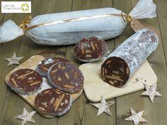 Salchichón de Chocolate con Thermomix Chocolate Thermomix, Chocolate Recipes, Love Chocolate, How To Make Chocolate, Oh Fudge, Mindful Eating, Food And Drink, Sweets, Homemade