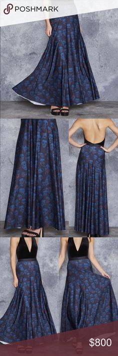 Size Swap: Invisible Zombie Maxi Skirt BNWT. Swap for M, or the same print in long sleeve dress or other Black Milk. A part of their museum Halloween collection. Beautiful blue and wicked awesome zombie print. 👻💀 Photos upon request. Cheaper via 🅿️🅿️ Blackmilk Skirts Maxi