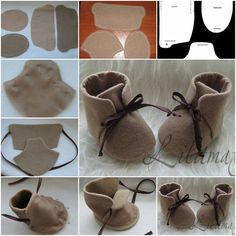How To stitch Fashion Baby Shoes step by step DIY tutorial instructions, How to, how to do, diy instructions, crafts, do it yourself, diy website, art project ideas