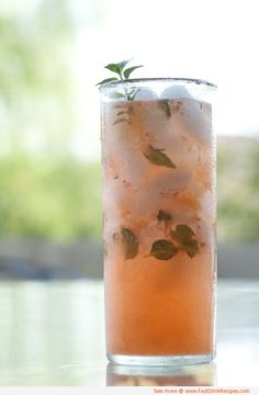 Peach Mojito #Recipe #Drink #DrinkRecipe