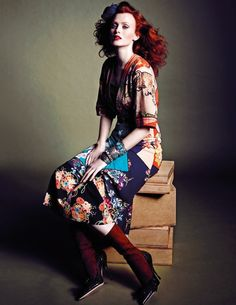 World Country Magazines: Model, Musician @ Karen Elson by Marcin Tyszka for Vogue Thailand March 2015