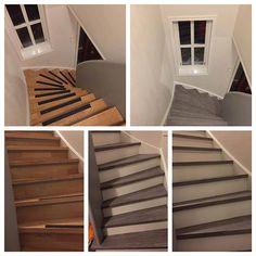 Sjekk den enorme forandringen denne trappa har fått med kontaktplast fra @lindasdekorogdesign.no 🙌🏼 Nå kan du enkelt og til en mye billigere penge gjøre trappa di lekker og moderne😍 Et enormt utvalg av forskjellige farger, strukturer og design finner du på 👉🏼 www.lindasdekorogdesign.no