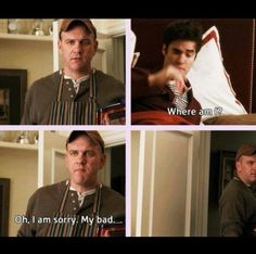 Possibly the world's most awkwardly adorable way of introducing Burt to his future son-in-law...