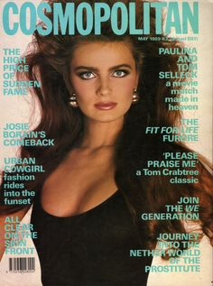 Paulina Porizkova covers Cosmopolitan May 1989
