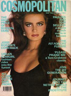 Paulina Porizkova covers Cosmopolitan May 1989