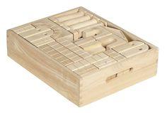 ECR4Kids Architectural Unit Blocks with Carry Case, 48-Piece Set