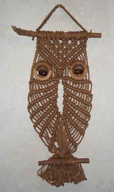 Macrame Owls: Their time has come...again. Site devoted to saving these now endangered creatures.