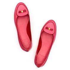 Tory Burch pink and red Flats