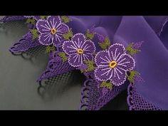 İğne oyası Çiçek yapımı 4.video (menekşe çiçeği) - YouTube