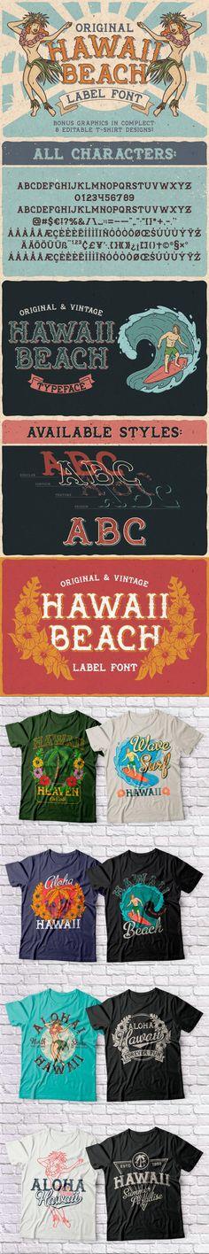 Hawaii Beach. Font & T-shirts #performance #boy #flora #vintage #people #beauty #island #exotic #poster #america #RetroFont #young #woff #hawaiian #water #opentypefont #DecorativeFonts #ttf #classyfont Font Design, Retro Design, Beach Fonts, Classy Fonts, Flora Vintage, Open Type, Retro Font, Font Names
