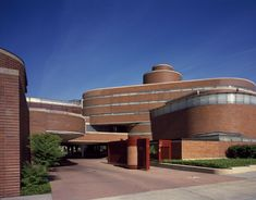 Detail of Johnson Wax Headquarters designed by Frank Lloyd Wright in Racine, Wisconsin.