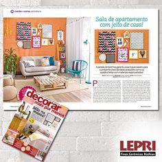"""Mídia impressa - Revista Decorar destaca Lepri Finas Cerâmicas Rústicas na matéria """"Cartão de Visita""""."""