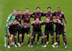 Germany's team pose for a team photo before the World Cup semifinal soccer match between Brazil and Germany at the Mineirao Stadium in Belo Horizonte, Brazil, Tuesday, July 8, 2014. (AP Photo/Themba Hadebe)