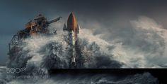 Canaveral Doom - Pinned by Mak Khalaf One of the freshly designed backgrounds on my upcoming website :). Fine Art seawaterwavesstormpowerapocalypsedestructionshuttlekarezoidphotomaniiulationmichalkarcz by Karezoid
