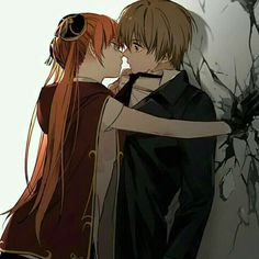 Manga Couple Why is it the current grown up Kagura but what looks like a younger version of Sougo? Anime Girls, Anime W, Anime Couples Manga, Cute Anime Couples, Romantic Anime Couples, Anime Love Couple, Manga Couple, Gintama, Manga Kawaii