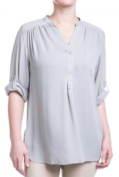 Type 2 Wish You Well Top In Gray - $38.97