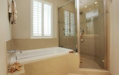 Small Modern Bathroom Design Ideas with glasses tub shower