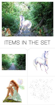 """0225541054AM"" by cheesyxshirleyxo ❤ liked on Polyvore featuring art, fantasy, fairies, unicorn and artexpression"