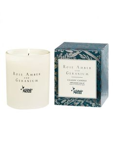 ROSE AMBER & GERANIUM CLASSIC CANDLE Mozi - Australian lifestyle and designs