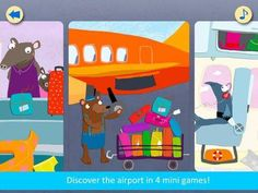 My First App - Vol. 3 Airport - 4 activities with the airport/air travel/passengers theme: slider puzzles, jigsaw puzzles, spot the difference game and a pinball-like activity. Appysmarts score: 87/100