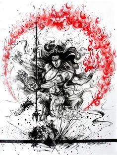 lord shiva in rudra avatar animated wallpapers Arte Shiva, Mahakal Shiva, Krishna, Hanuman, Rudra Shiva, Durga, Angry Images, Mahadev Tattoo, Shiva Angry
