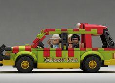 Cool Stuff: Custom LEGO Sets for 'Jurassic World' Indominus Rex and 'Jurassic Park' Ford Explorer Jurassic Park Lego Sets, Lego Jurassic World, Legos, Custom Lego Sets, Jurassic World Indominus Rex, Cool Lego, Awesome Lego, Lego Worlds, Lego Projects