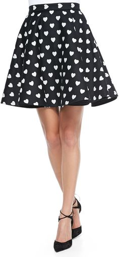 one of my favorite flirtations...this Alice + Olivia Heart-Print Short Circle Skirt is super cute!