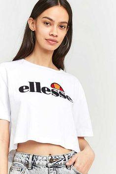 Ellesse T shirt court avec logo sur l'avant à détails arc