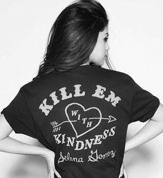 Selena Gomez. Got this shirt at her concert! She is amazing! I definitely recommend going to see her in concert!!
