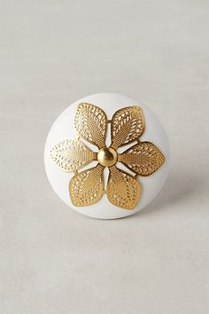 Etched Blossom Knob #anthropologie