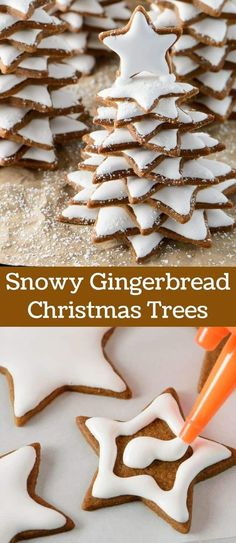 Soft Snowy Gingerbread Christmas Trees make a wonderful holiday gift. Turn a traditional Christmas cookie into a fun and magical gift.