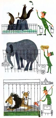 Alice and Martin Provensen Alice Martin, Animation, Children's Book Illustration, Character Illustration, Retro Art, Childrens Books, Illustrations Posters, Vintage Children's Books, Zoo Nursery