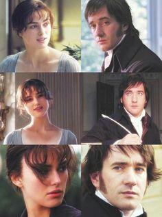 Keira Knightley (Elizabeth Bennet) & Matthew Macfadyen (Mr. Darcy) - Pride & Prejudice (2005) #janeausten #joewright