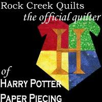 Rock Creek Quilts - The official long arm quilter of Harry Potter Paper Piecing and Fandom in Stitches!