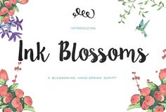 Ink Blossoms Script by Emily Spadoni on @creativemarket
